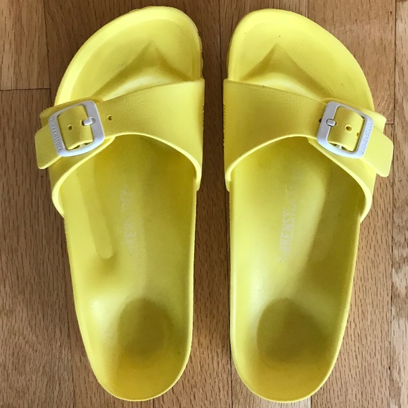 6d9dfee40500 Birkenstock Shoes - Birkenstock Madrid Eva Neon Yellow Sandal
